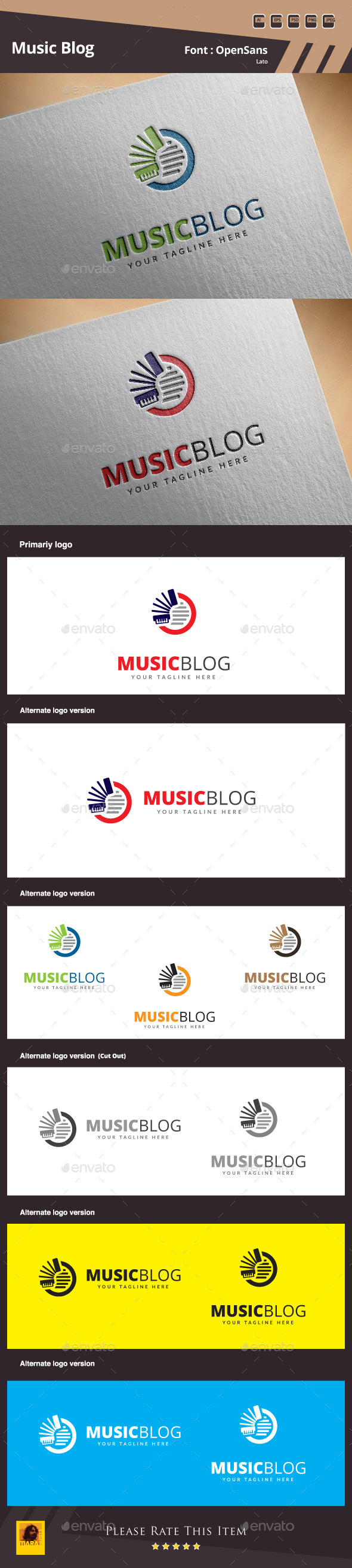 GraphicRiver Music Blog Logo Template 10492096