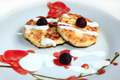 cheese cakes on the plate with raspberry - PhotoDune Item for Sale