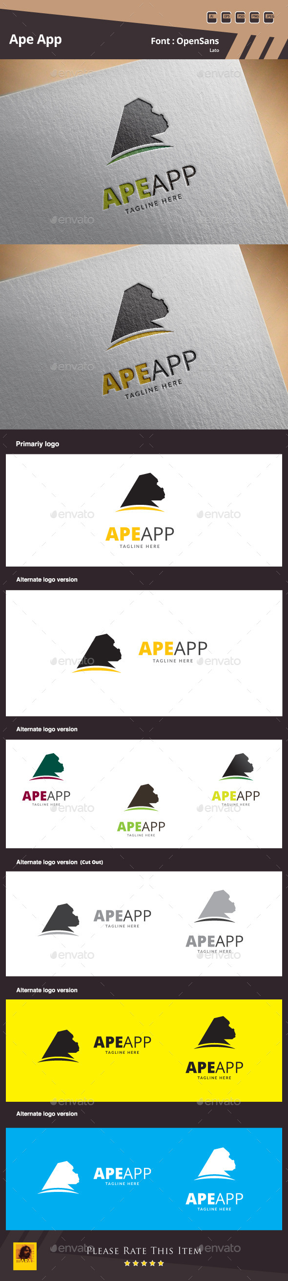 GraphicRiver Ape App Logo Template 10492708