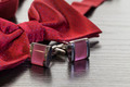 cuff links and red bow tie - PhotoDune Item for Sale