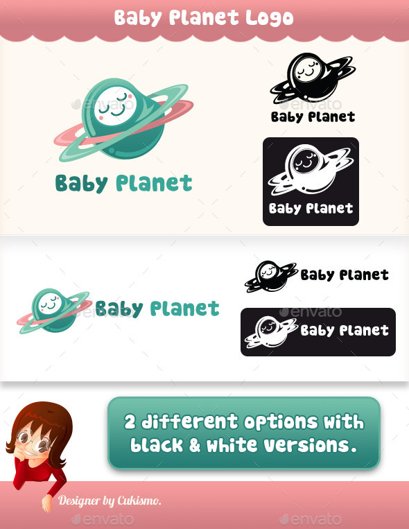 GraphicRiver Baby Planet Logo 10493129