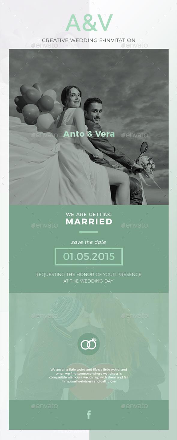 GraphicRiver AV Wedding E-Invitation 10445186