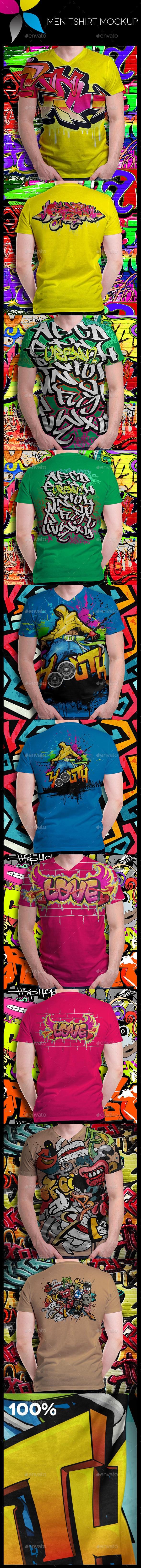 GraphicRiver Men T-Shirt Mockup 10493146