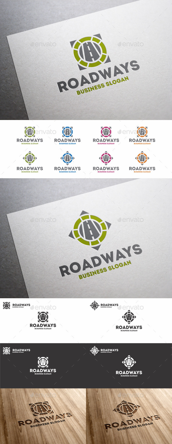 GraphicRiver Road Ways Directions Logo Template 10493150