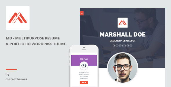 ThemeForest MD Multipurpose Portfolio WordPress Theme 10493236