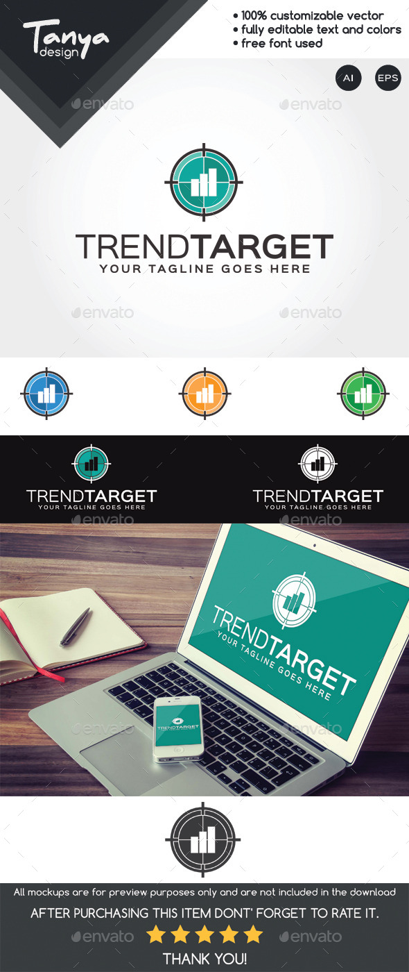 GraphicRiver Trend Target Logo Template 10493279