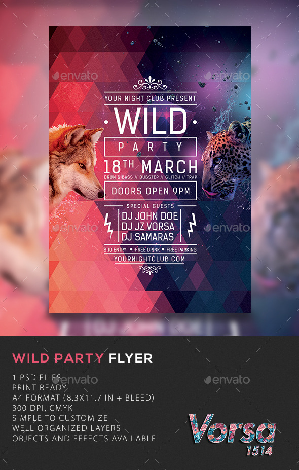 GraphicRiver Wild Party Flyer 10493383