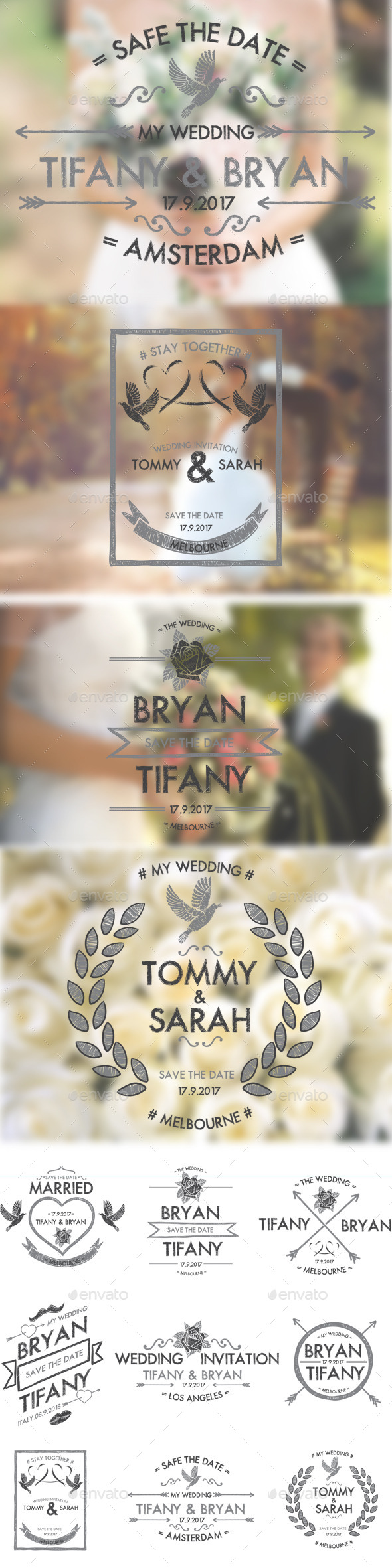 GraphicRiver Wedding Badges 10493459