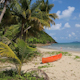 Red Canoe On The Beautiful Tropical Beach - VideoHive Item for Sale