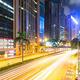 traffic in Hong Kong at night - PhotoDune Item for Sale