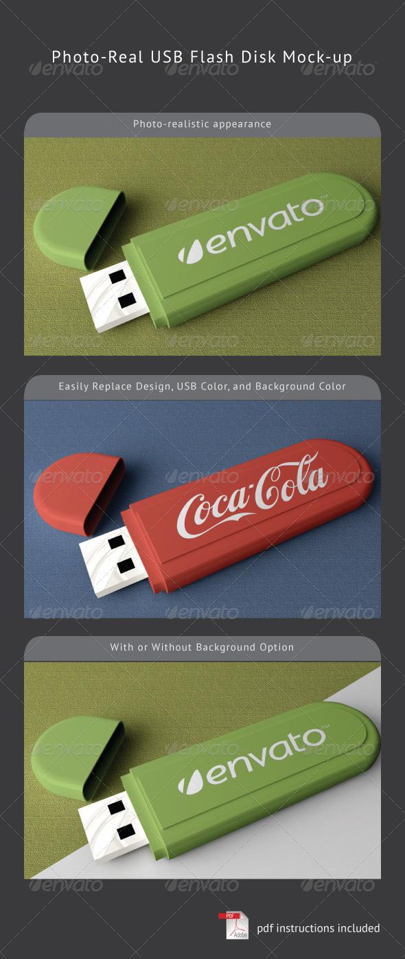 USB Flash Disk Mock-Up