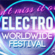 Electro Neon Party Facebook Timeline Cover - GraphicRiver Item for Sale