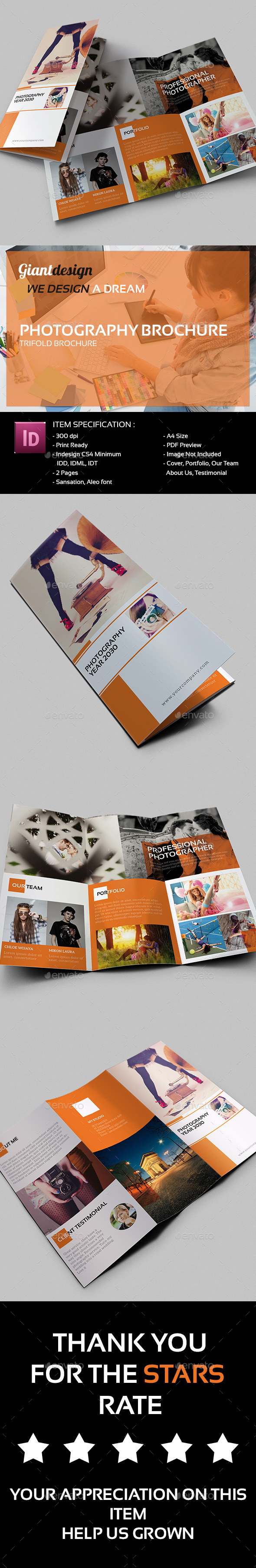 GraphicRiver Photography Trifold Brochure 10494124