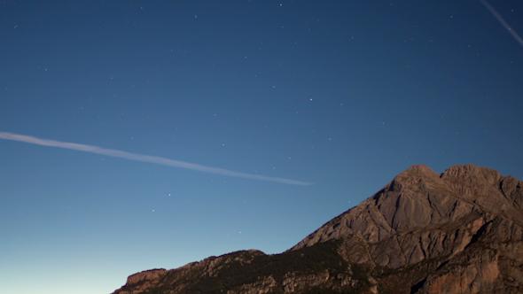 Full Moon Nighttime Mountain Range 5