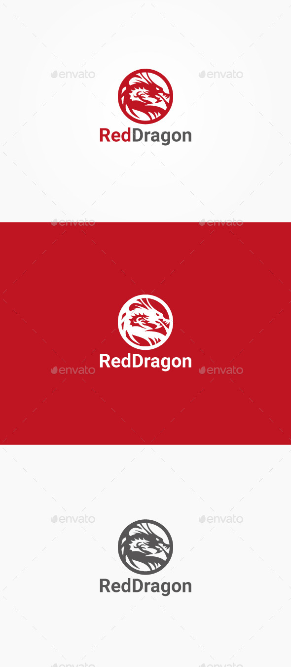 GraphicRiver Red Dragon 10494645