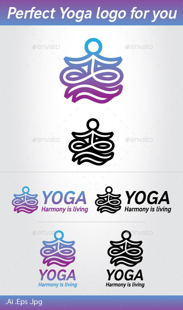 GraphicRiver Yoga Logo 10494652