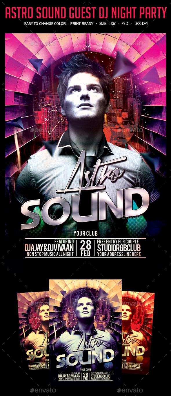 GraphicRiver Astro Sound Guest Dj Night Party 10494665