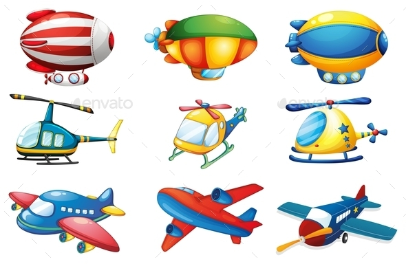 GraphicRiver Planes and Balloons 10494708
