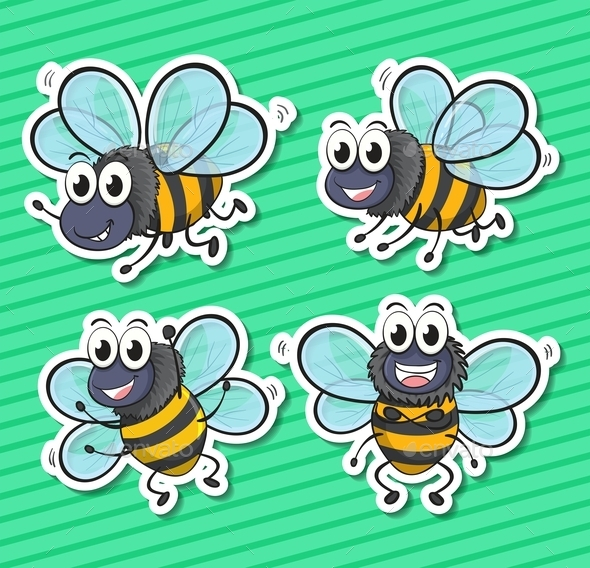 GraphicRiver Bees 10494739