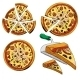 Collection of Sliced Pizza. - GraphicRiver Item for Sale