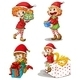Santa Elves with Gifts - GraphicRiver Item for Sale
