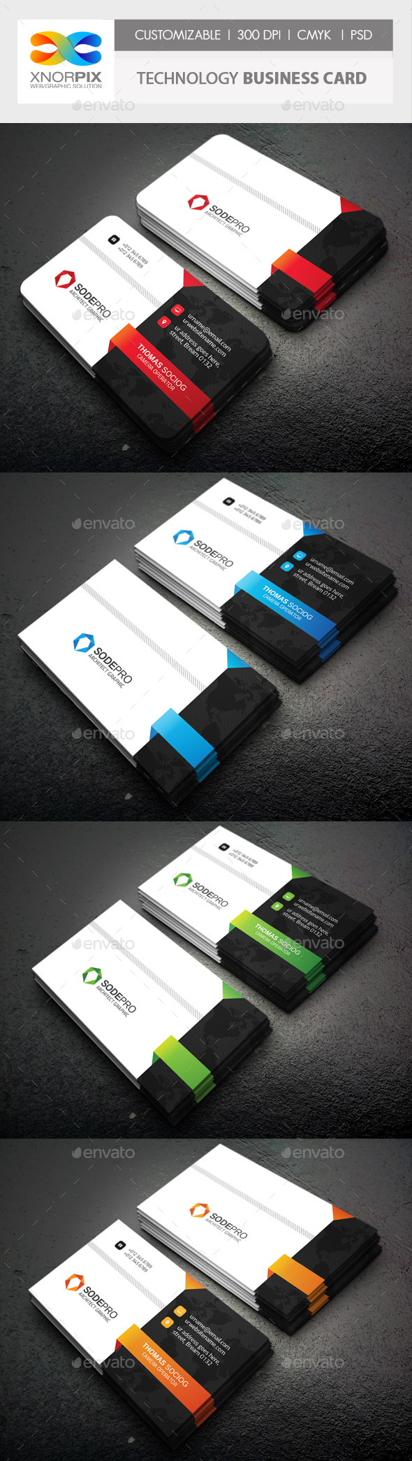 GraphicRiver Technology Business Card 10494793