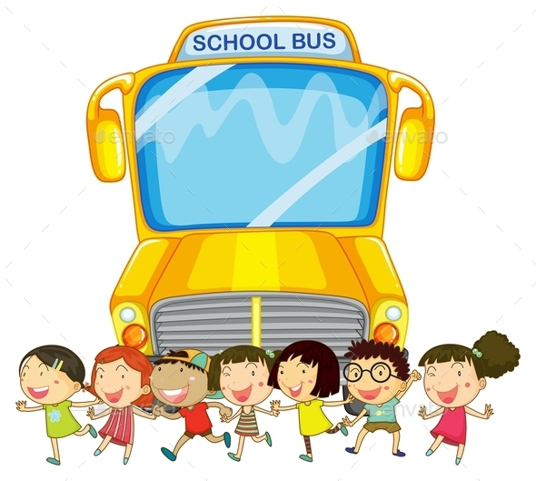 GraphicRiver Children and School Bus 10494856