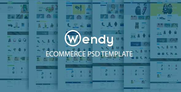 ThemeForest Wendy Ecommerce PSD Template 10494892