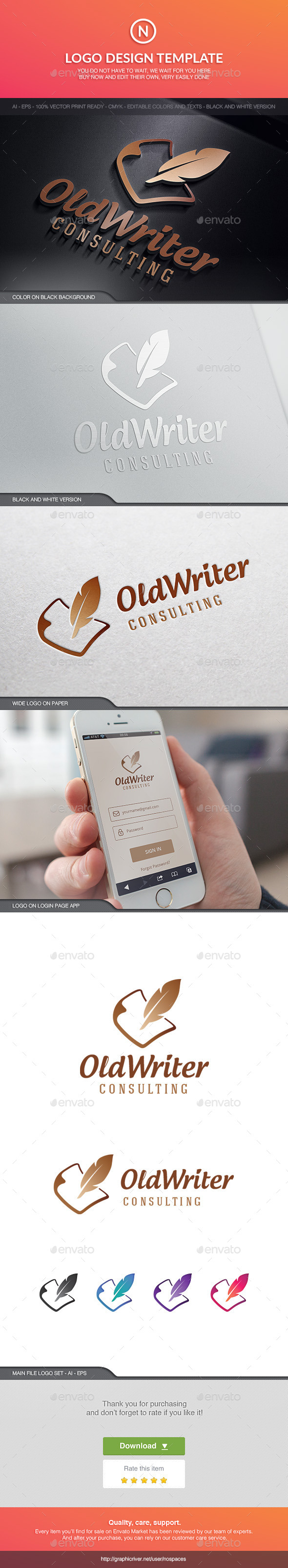 GraphicRiver Old Writer 10494924