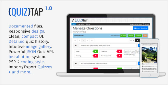 CodeCanyon QuizTap premium quiz web app 9778504