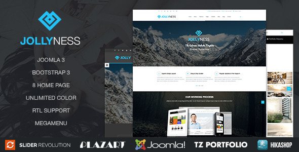 ThemeForest Jollyness Business Joomla Template 10494943
