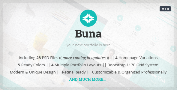 ThemeForest Buna Your Next Agency Portfolio Template 10459375