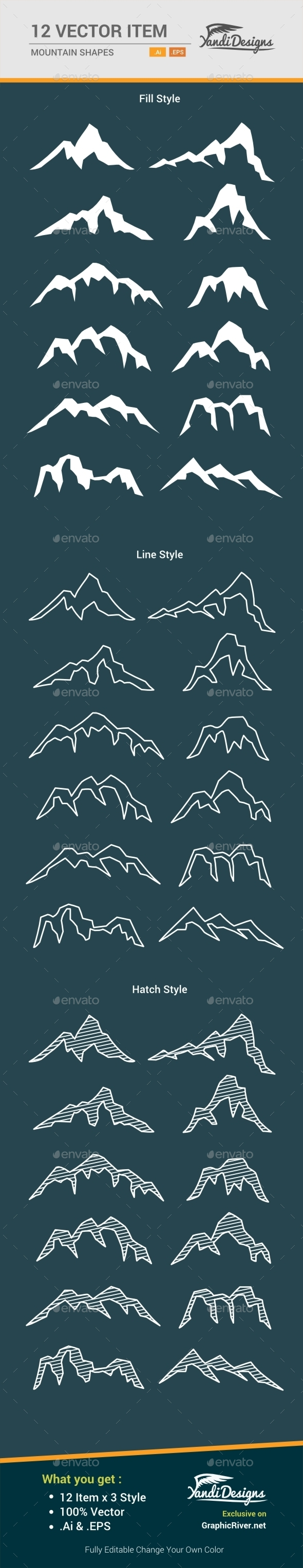 GraphicRiver Mountain Shape 10495434
