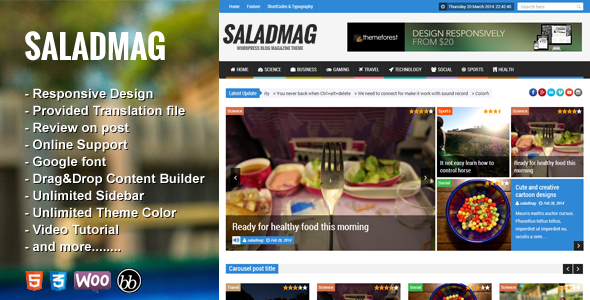 NanoMag - Responsive WordPress Magazine Theme