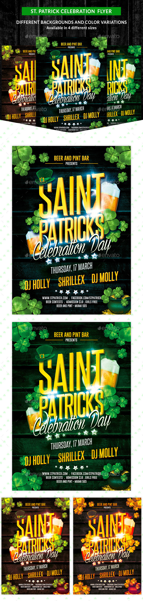 GraphicRiver St Patricks Celebration Party Flyer 10495580