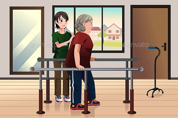 GraphicRiver Physical Therapist Working on a Patient 10496205