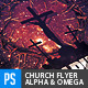 Church Themed Flyer - Alpha & Omega - GraphicRiver Item for Sale