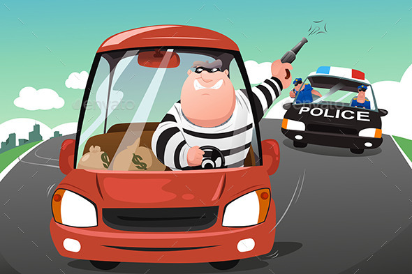 GraphicRiver Police Chasing Criminals 10496335
