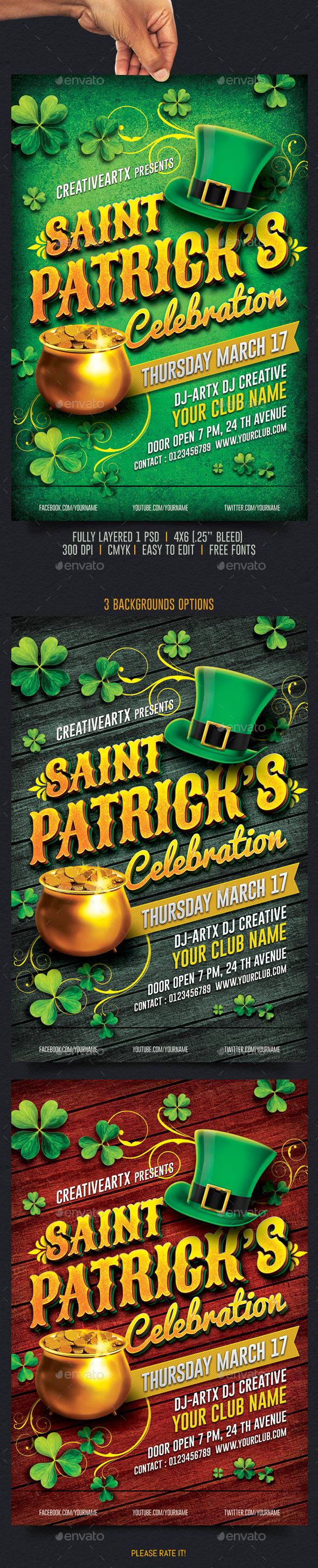 St. Patricks Celebration - Events Flyers
