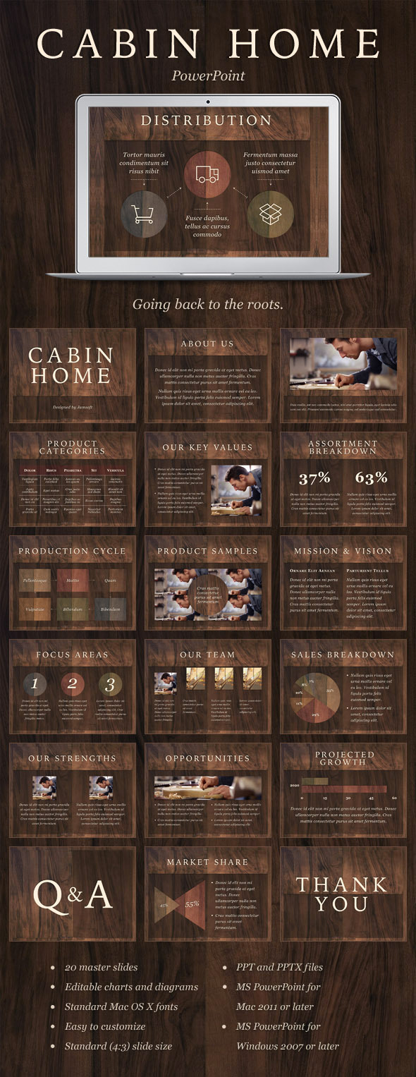 Cabin Home PowerPoint Template (PowerPoint Templates)