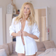 Sexy Blond Woman Unbuttoning Her Shirt 1 - VideoHive Item for Sale