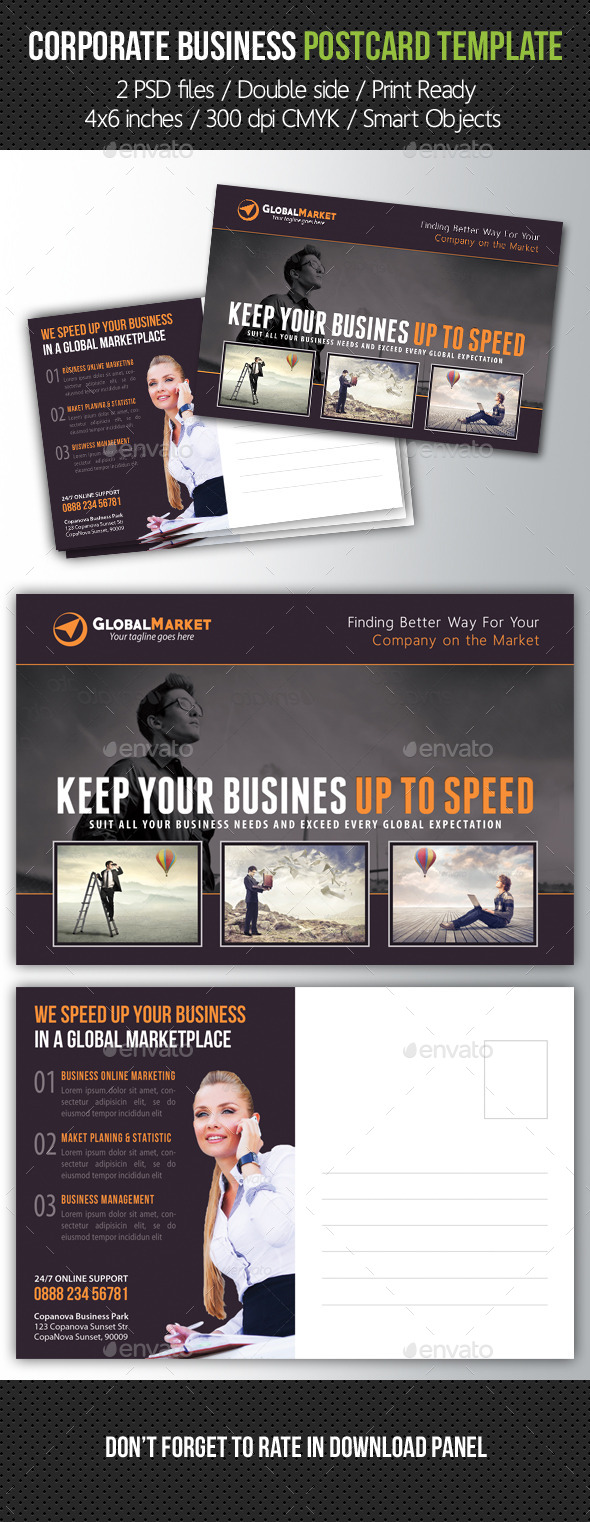 GraphicRiver Corporate Business Postcard Template V05 10457649