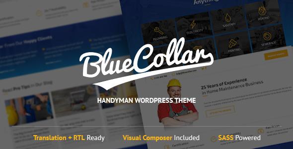 ThemeForest Blue Collar Handyman WordPress Theme 10406508