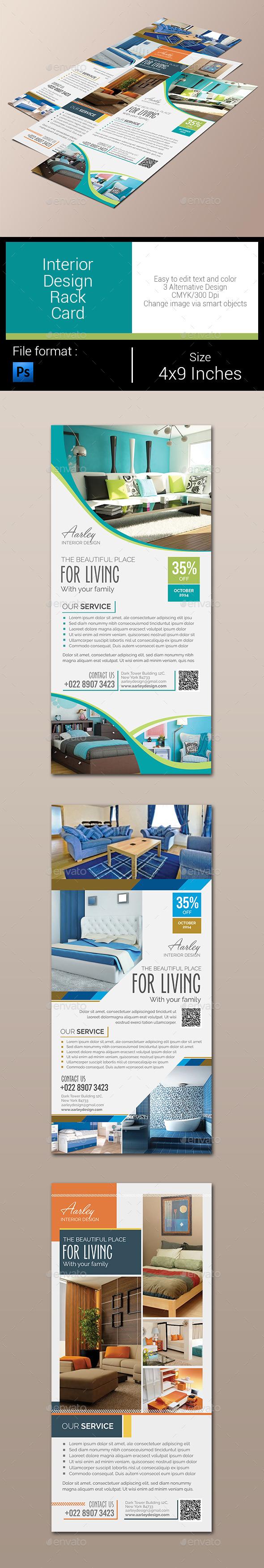 GraphicRiver Interior Design Rack Card 10497187