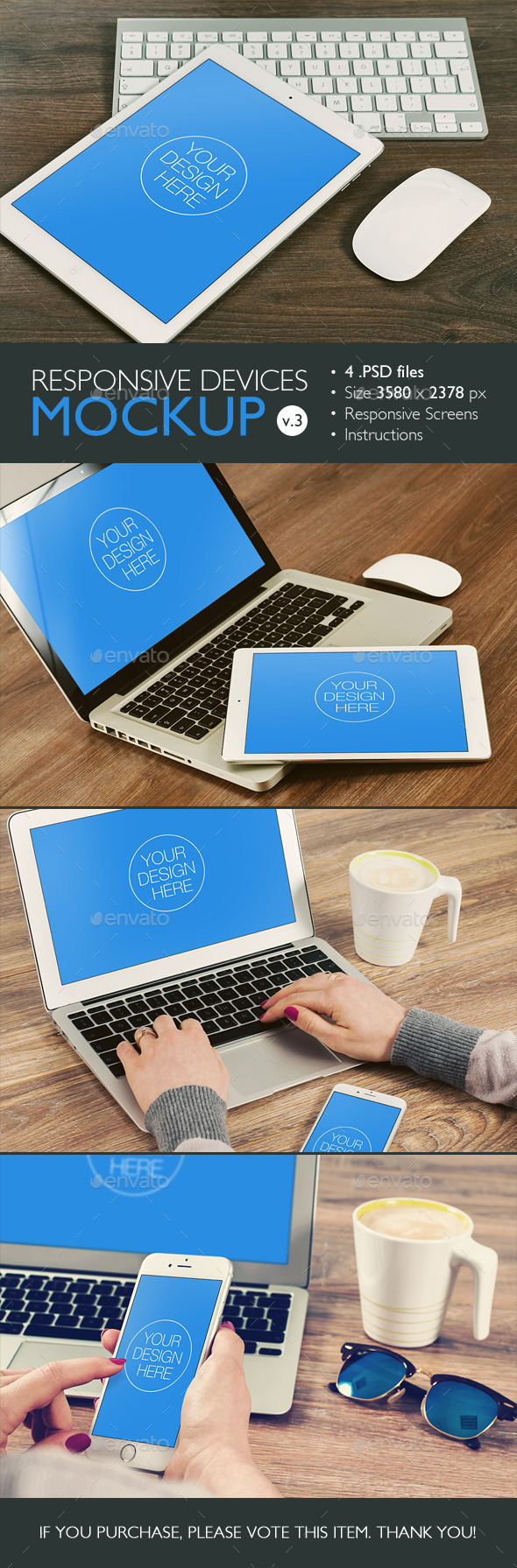 GraphicRiver Responsive Devices Mockup v.3 10462885