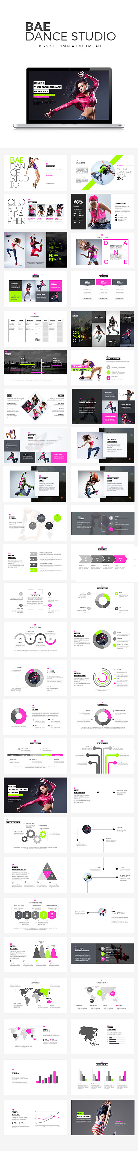GraphicRiver Bae Dance Keynote Presentation 10497324
