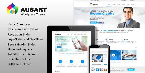 ThemeForest Ausart Premium Multi-Purpose Business Theme 10341366