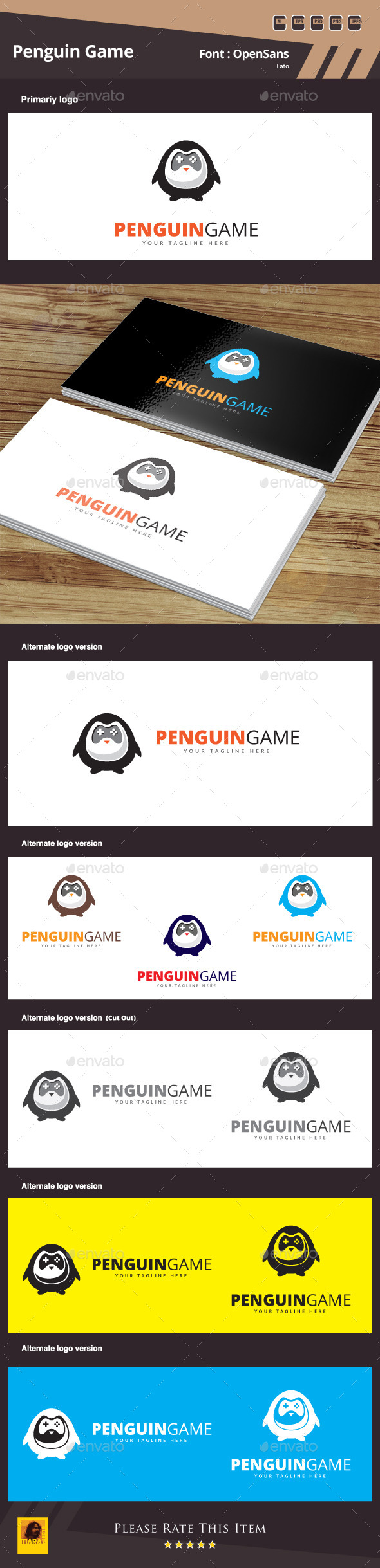 GraphicRiver Penguin Game Logo Template 10497692