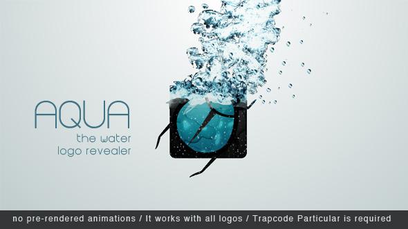 AE模板:流体水花泡沫液体公司片头logo展示模板