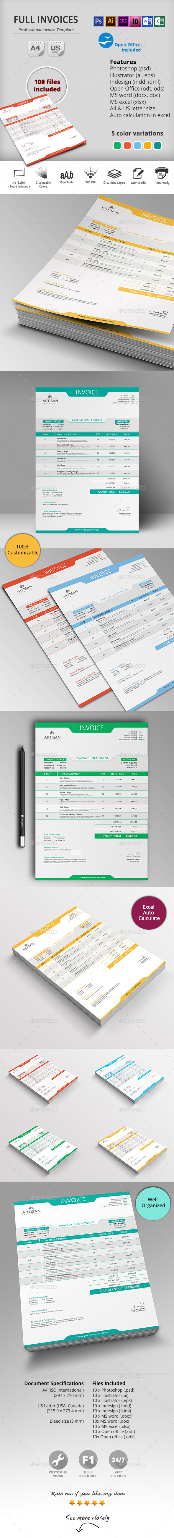 GraphicRiver Invoice 10498011